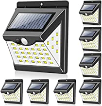Solar Lights Outdoor[40 LED & 3 Working Modes], Towkka Wireless IP65 Waterproof Solar Lights with 300° Lighting Angle, Sec...
