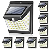 Solar Lights Outdoor[40 LED & 3 Working Modes], Towkka Wireless IP65 Waterproof Solar Lights with...
