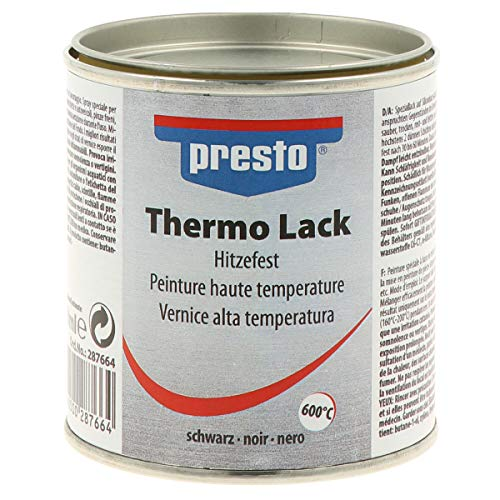 PRESTO Thermo-Lack Schwarz matt 250ml Hitzefest 600°C 287664