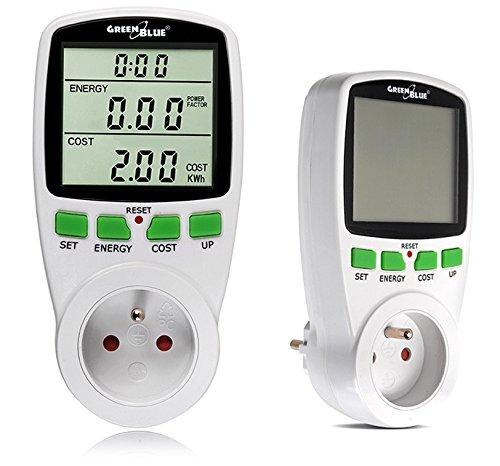 Green Blue GB202 La consommation d'énergie mètre wattmètre Prise Compteur d'énergie de Compteur