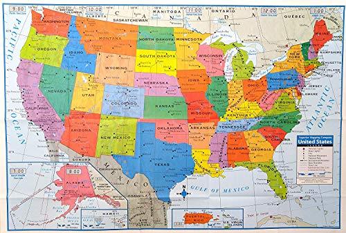 24x36 United States 24x36 LAMINATED USA US Executive Wall ...