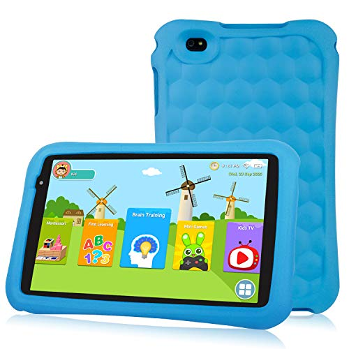 10.1 inch Kids Tablet PC Quad Core Android 9.0 Pie OS Tablet for Kids HD Screen 2GB+32 GB Dual Camera 2MP Front+ 5MP Rear, Bluetooth and WiFi Tablet for Kids Blue Kid-Proof Case(Blue)