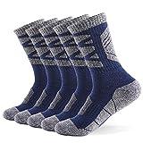 Lixada Calcetines Deportivos para Hombres/Calcetines de Esquí de Invierno de Punto/Calcetines Deportivos para Exteriores, Antideslizantes Transpirables de Secado Rápido y Resistentes al Desgaste