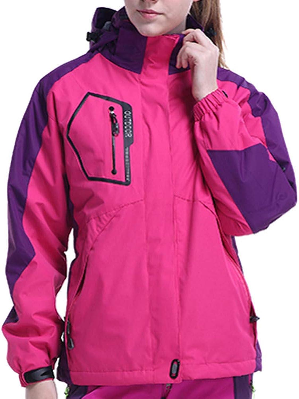 Kangma Women's Fleece Liner Outdoor Plus Size Hoodie Two Piece Set Sport Assault Coat