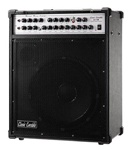 Classic Cantabile - Amplificatore a 5 canali per chitarra, basso, canto (x 2) e lettore MP3/CD (200 W, altoparlante da 12'', effetti hall ed echo)