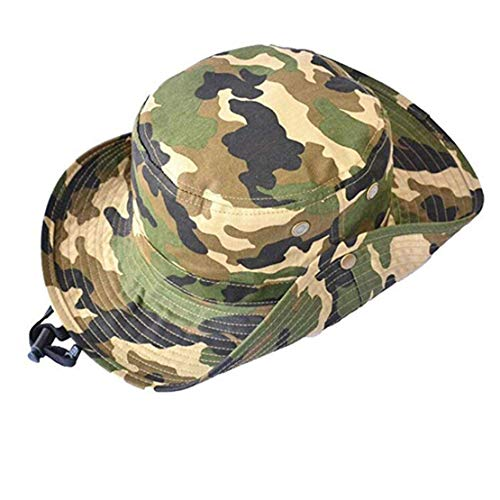 Sun Hat Bucket-Boys-Camouflage Hats Fishman Cap Packable (Camo,56cm Suggested for 7-14years Old Kids)