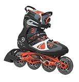 K2 Skate Men's VO2 90 Boa Inline Skates, Black/Orange, 8.5