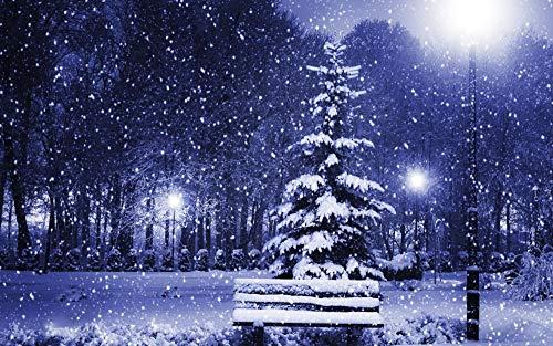 Erwachsenen puzzle 1000 Teile Klassisches Puzzle Aus Holz Puzzles new year christmas tree winter snow snowflake flakes Geschenk Intellektuelles Spiel-75X50Cm