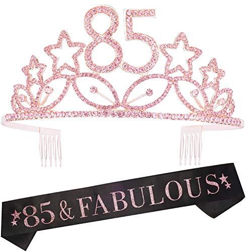 85 & Fabulous Tiara and Sash Set