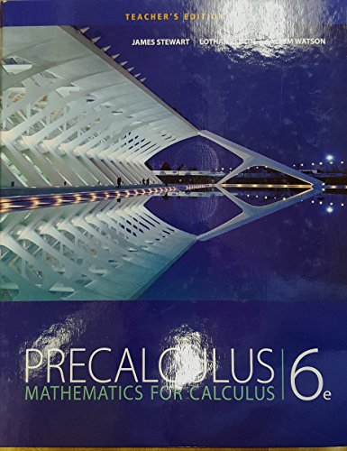 Price comparison product image Precalculus: Mathematics for Calculus,  6th Edition,  Teacher's Edition