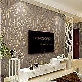BGI Papier Peint Courbe Minimaliste Moderne Bande TV Fond Mur Papier Salon Chambre Papier Peint Peu Profond Kaki
