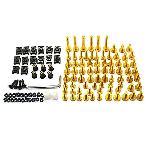 Lpgg-ZZ Kit De Tornillo De Sujetador De Sujetador De Cerrojo De Motocicleta, Ampliamente Utilizado En Construcción, Carpintería, Pared De Cemento, Placas De Yeso, Etc. (Color : Gold)