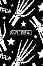 Simple journal - Everyday is your day: Halloween seamless pattern with bones and stars notebook, Daily Journal, Composition Book Journal, Sketch Book, ... sheets). Dot-grid layout with cream paper.
