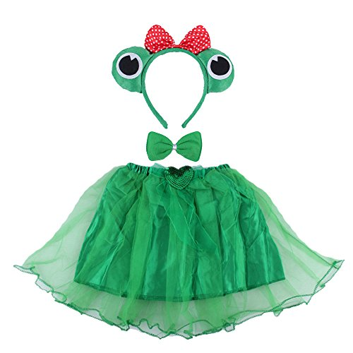 Ze Shining Kerst Party Hoofd Band/ Boppers Novelty Hoofddeksels Decoraties Kikker Dieren Set Fancy Dress Up Set Accessoires Eén maat Headband&bowtie&skirt