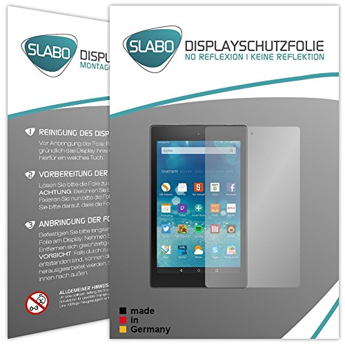 Slabo 2 x Bildschirmschutzfolie für Amazon Fire HD 8 Bildschirmschutz Schutzfolie Folie No Reflexion   Keine Reflektion MATT