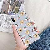 lypll simpatico cartone animato animale divertente coniglio orso cassa del telefono per iphone xs max xr x 6 6s 7 8 più coppia trasparente tpu posteriore cover-per iphone xr-2