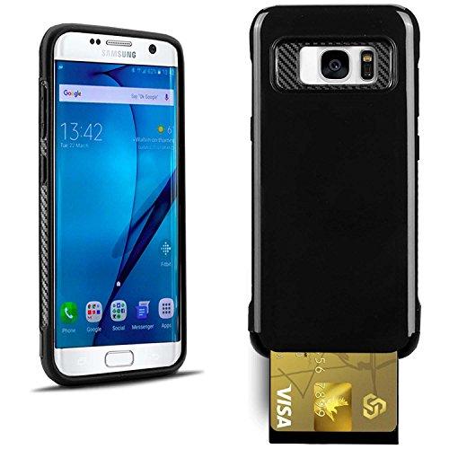 United Case Hard-Cover in Schwarz für Samsung Galaxy S7 Edge   2 Teilig Hybrid   Kohlenfaser