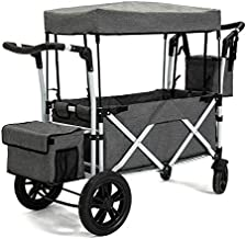 PA Юра Collapsible Folding Wagon with Canopy Portable Cart with Wheels Fold up Beach and Shopping Wagon