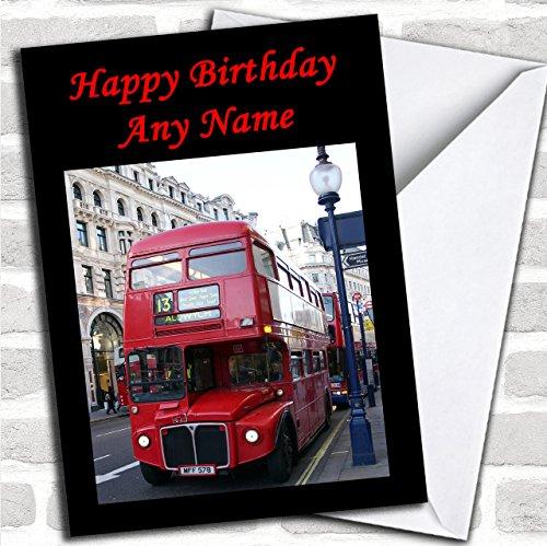 Rode Londen Bus Aangepaste verjaardagswenskaart - Verjaardagskaarten/Vliegtuigen, Treinen & Auto's Kaarten