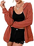 Sudadera con capucha para mujer, con capucha, manga larga, bolsillos delanteros, suave, elástica, cómoda, gimnasio, deportes, yoga, tops, Mandarina, S