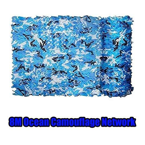 8M blauw en wit cover schaduw doek outdoor camping campernet decoratie camouflagennet outdoor training Cs Scenic boerderij decoratie net (til: marine camouflagennet)