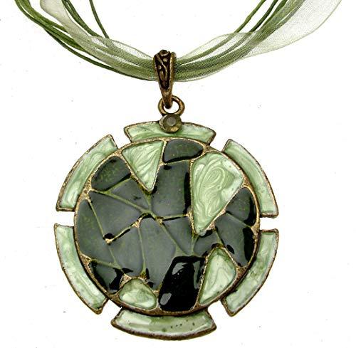 Statement Halsketten für Frauen Grün Ketten Grün Schmuck 13236