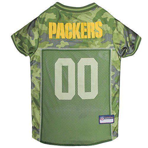 NFL Green Bay Packers Camouflage Dog Jersey, Medium. - CAMO PET Jersey Available in 5 Sizes & 32 NFL Teams. Hunting Dog Shirt