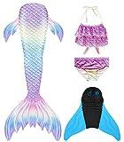shepretty Traje de Baño de La Cola Sirena de Las Muchachas Bikini Set,xiaolanG2,150