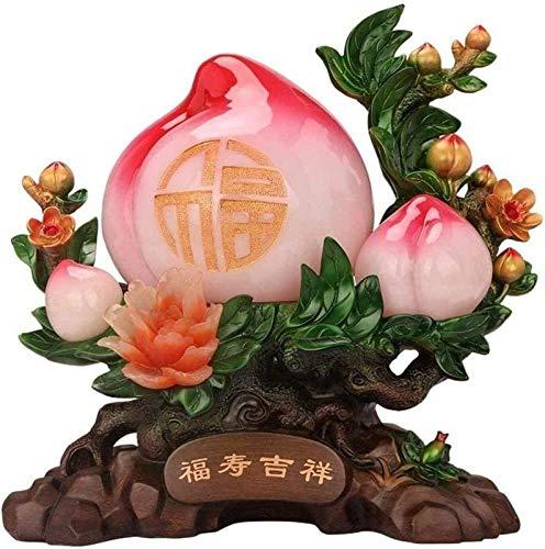 aipipl Esculturas Decoracin, Adornos y figurasfeng Shui Feng Shui Guisante Longevidad Riqueza Prosperidad Atraer hogar Artesana Riqueza Estatua de Feng Shui