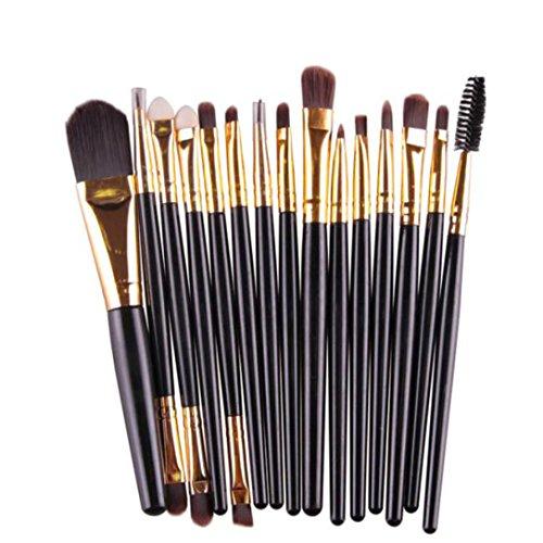Coloré(TM) 15 pièces Lot de pinceaux de maquillage (Noir)