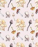 Impresión de la lona Arte de la pared Pintura Otoño Cosecha Acuarela Patrón con setas Bosque un fondo beige 40.6 cm X 30.5 cm para la decoración del hogar