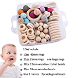 Baby Teether Beads DIY Wooden Rings Crochet Set Diy Nursing Teething Necklace...