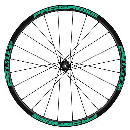 Pegatinas Llantas Bicicleta Progress MTX 29 WH56 Turquesa