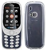 cofi1453 Silikon Hülle kompatibel mit Nokia 3310 (2017) Tasche Hülle Zubehör Gummi Bumper Schale Schutzhülle in Transparent