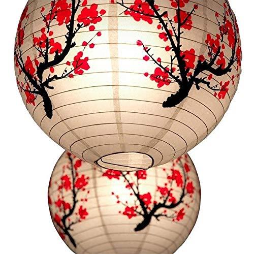 Calvas Pretty 35cm Decorative Paper Lampion Ball Chinese Festival Paper Lanterns Kids Birthday Party Wedding Decoration Party Supplies - (Color: 35cm Round Lantern, Lantern Size: 16inch 40cm)