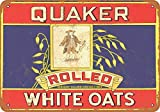 KE OU Quaker Rolled White Oats Fender Tin Sign Plaque Art Poster Wall Sticker Decoration