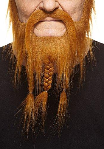 Mustaches Geflochtener rotoranger Kapitäns fälschen, selbstklebend Bart mit Schnurrbart