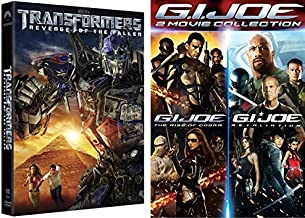Childhood Cartoons Turned Real Life Mega Movies - Transformers: Revenge of the Fallen & G.I. Joe Collection (The Rise of Cobra/ Retaliation) 3 DVD Action Movie Pack