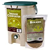SCD Probiotics All Seasons Indoor Composter, Countertop Kitchen Compost Bin with Bokashi - Easily...