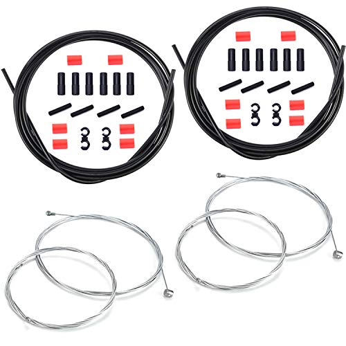 Cable Freno Bicicleta Universal, Cable Cambio Velocidades, Bicicleta Carretera y MTB, 2...