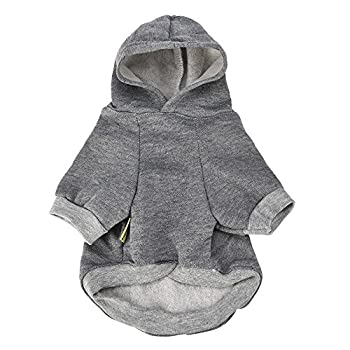 FarJing Small Pet Dog Clothes Fashion Costume Puppy Cotton Blend T-Shirt Apparel S,Gray