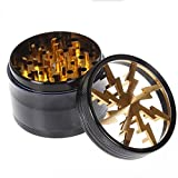 Metrical Poetry 2.5 Inch 4 Piece Clear Top Grinder (Golden)