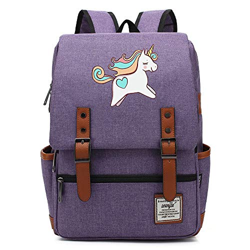 Mochila escolar con forma de unicornio arcoíris robot, mochila universitaria para adolescentes, mochila de viaje informal para senderismo, 16 pulgadas. Color-10