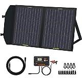 ECO-WORTHY 60W Panele Solare Plegable con Controlador de Carga, Salida DC, Carga Portátil para Uso en Exteriores, en Maleta para RV/Camper/Excursionismo/Tablet/Smartphone