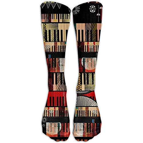 NA Piano Musical ademend hoog voor vrouwen of mannen volleybal crazy sokken