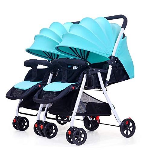 Poussettes et landaus Poussette Double bébé, détachables Pouvez Vous asseoir et Lie Down Enfant léger Pliant Double Chariot Landau