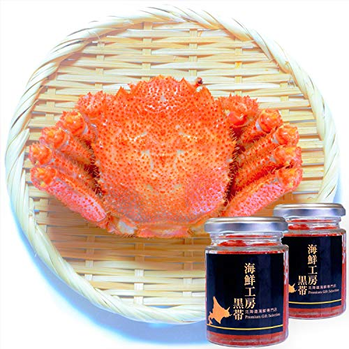 【Amazon.co.jp限定】 黒帯 海鮮セット 毛がに 500gx1ハイ / いくら醤油漬け 100gx2瓶 北海道 ギフト