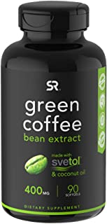 SVETOL Green Coffee Bean Extract, 90 Liquid Softgels with 400mg of Clinically-Proven Svetol Per Cap