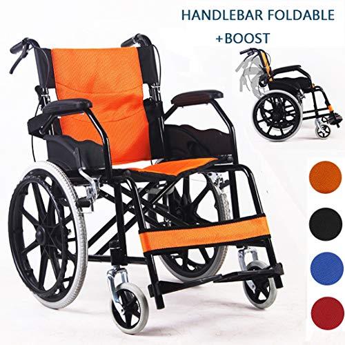 MLKARDUT Drive Medische Zelfrijdende Rolstoel met Flip Opvouwbare Handvat Armen, Verhoogde Beensteunen Mobility Transport Stoel, 19