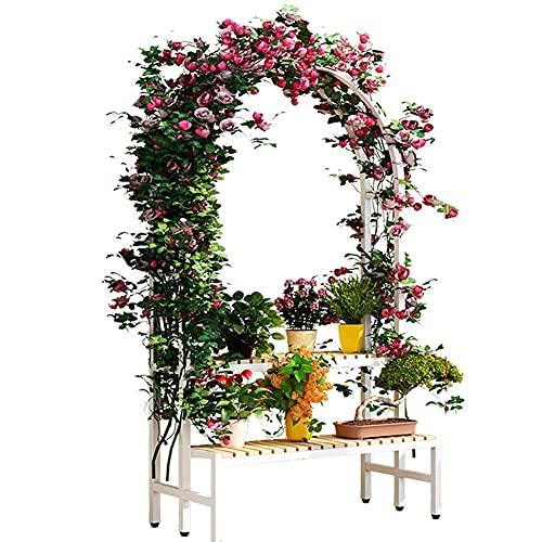 Cakunmik 148 * 80 cm Arco de jardín Redondo con Plantas Rose Arch Archway Estilo clásico - para Escalar Enredaderas y Plantas, Bastidor de Escalada al Aire Libre Multicapa